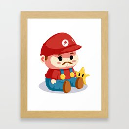 Baby fat mario Framed Art Print