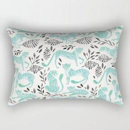 Cheetah Collection – Mint & Black Palette Rectangular Pillow