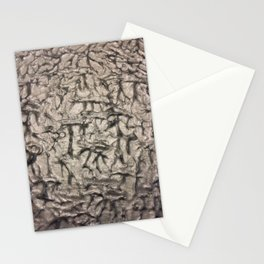 Silver Waves and Ripples Textured Wavelet Paint Art Stationery Cards