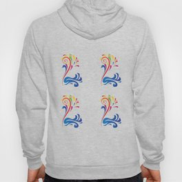 Colorful Bird Swan Nature Art Design Feathers Animal Picture Birdy Artistically Ornament Gift Idea Hoody