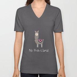 Llama No Prob-llama - Funny & Cute TeeLlama No Prob-llama - Funny & Cute Tee Unisex V-Neck