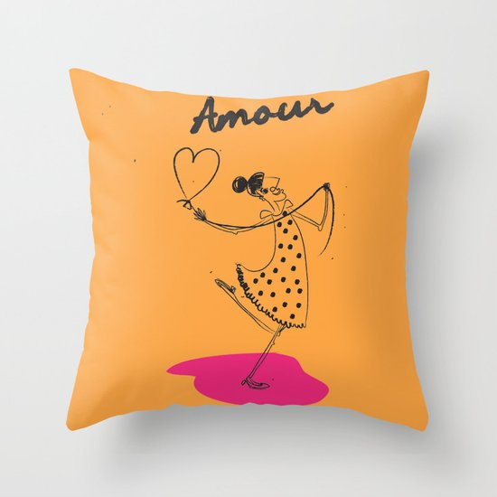 "The Ink - ""Amour"" Throw Pillow"