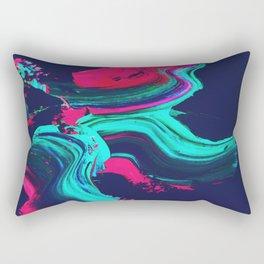 Neon abstract #FEELING Rectangular Pillow