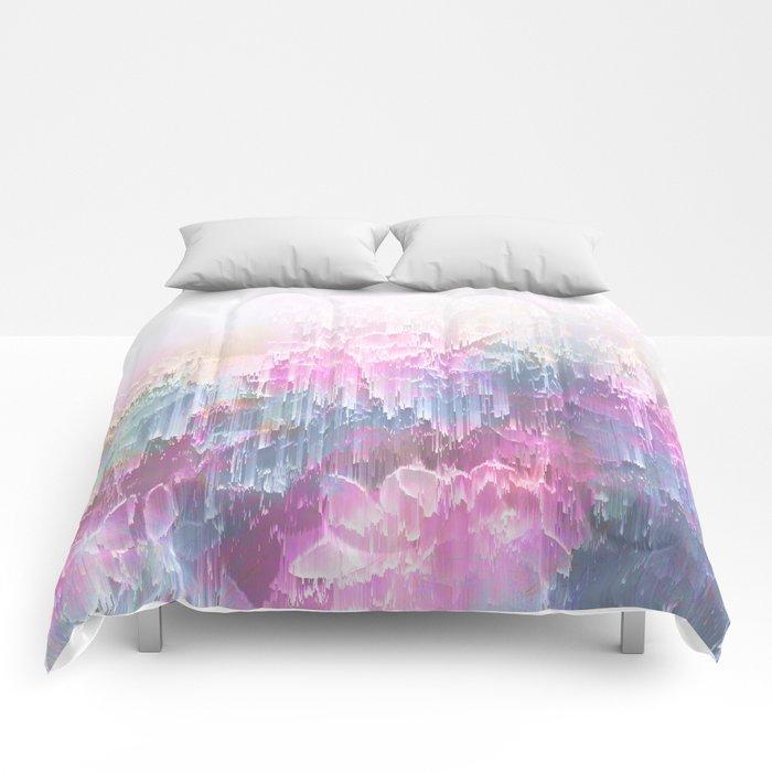 Magical Nature - Glitch Pink & Blue Comforters