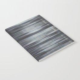 Rain Streaked Metal Stripes Notebook