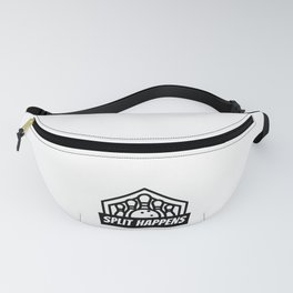 Funny Bowling Gift SPLIT HAPPENS Bowler Gift Idea Bowling Pins and Bowling Ball Fanny Pack