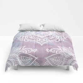 PASTEL MARBLE MANDALA Comforters