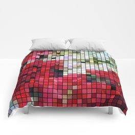 Mixed color Poinsettias 1 Mosaic Comforters