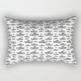 Sombrero Vueltiao in Black and White Ink Pattern Rectangular Pillow