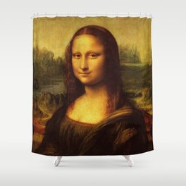 Leonardo Da Vinci Mona Lisa Painting Shower Curtain