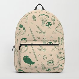 Garden Witch Pattern Backpack