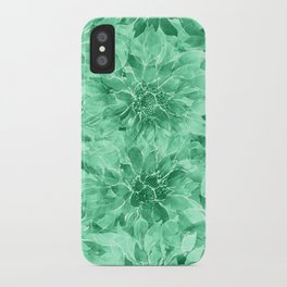 The Smell of Spring 3 / Monochrome / Green iPhone Case