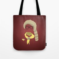 sam smith Tote Bags featuring Sam by John McKeever