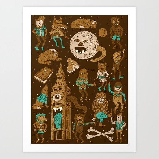 Wow! Werewolves!  Art Print