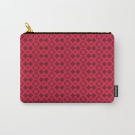 Geometric Diamonds and Circles - Red Hues Carry-All Pouch