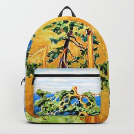 Akseli Gallen-Kallela - A wild marshland beyond the north wind - Digital Remastered Edition Backpack