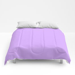 Spring - Pastel - Easter Purple Solid Color Comforters