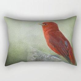 Song of the Summer Tanager 3 - Birds Rectangular Pillow