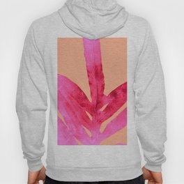 Peach Pink Ferns, Living Coral Hoody