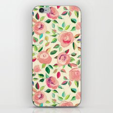 Pastel Roses in Blush Pink and Cream  iPhone & iPod Skin
