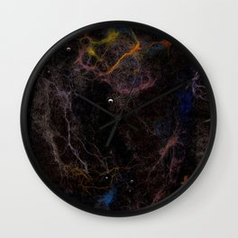 Abstract Nebula K2 Wall Clock