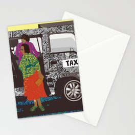 taxi in africa Stationery Cards