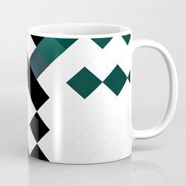 Emerald Green White Black Geometrical Pattern Coffee Mug