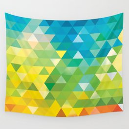 Triangle landscape Wall Tapestry