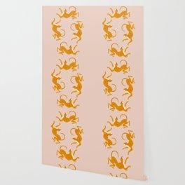 Leopard Race - pink Wallpaper