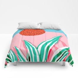 Freakin' - memphis throwback style palm springs neon art print 1980s vintage desert road trippin Comforters