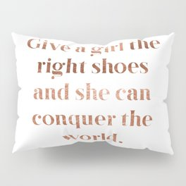 Rose gold shoe love Pillow Sham