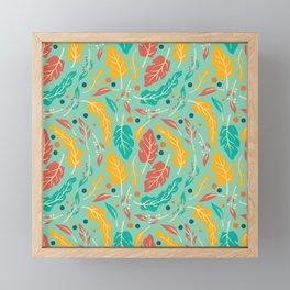 Vintage Floral Pattern 002 Framed Mini Art Print