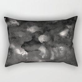 Dark Night Ocean Abstract Painting #1 #ink #decor #art #society6 Rectangular Pillow