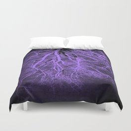 Passage to Hades Purple Duvet Cover