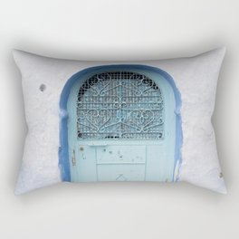 Doors - Chefchaouen V, The Blue City - Morocco Rectangular Pillow