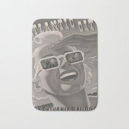Vintage Placard Atlantic City voyage poster Bath Mat