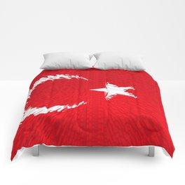 Extruded flag of Turkey Comforters