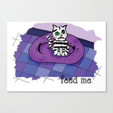 Hungry cat! Canvas Print