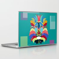 lion Laptop & iPad Skins featuring lion by mark ashkenazi