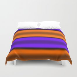 Orange & Purple Horizontal Stripes Duvet Cover