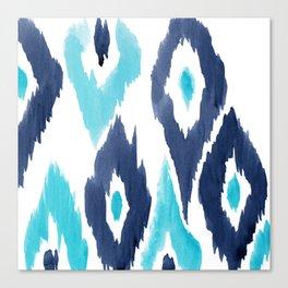 Malibu Ikat Canvas Print