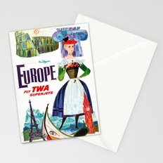 Vintage Europe Travel Paris Venice, Rome, Greece Stationery Cards