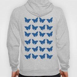 Denim Blue Bold Mod Butterflies Hoody