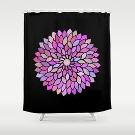 Flower Mandala Rose Gold And Purple Shower Curtain