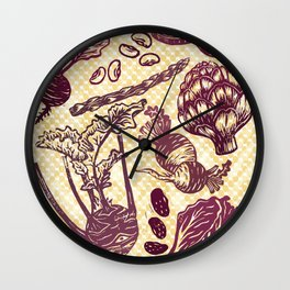 Eat Your Purple Veggies Wall Clock