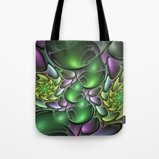 Illuminated Colors, Abstract Fractal Art Tote Bag