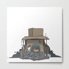 Cardboard Castle Metal Print