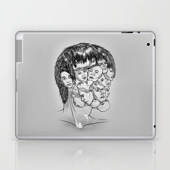 Face Lock BW Laptop & iPad Skin