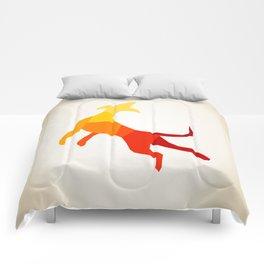 Abstract dog Comforters