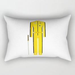American Martial Arts Assassin Film Costume Minimal Sticker Rectangular Pillow